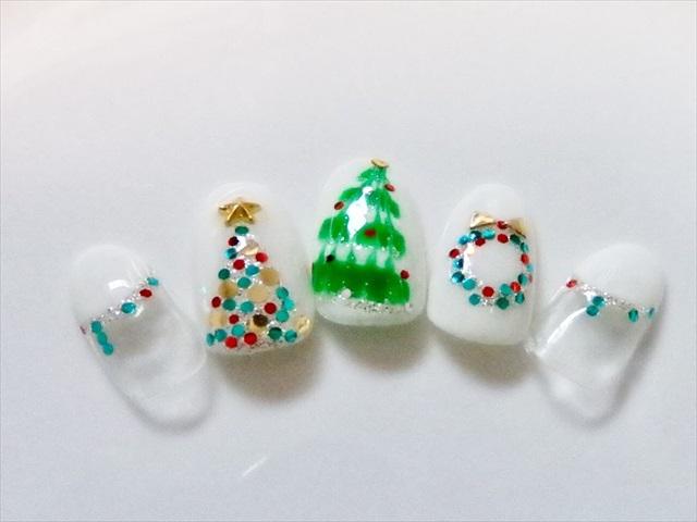 クリスマスツリー ネイル