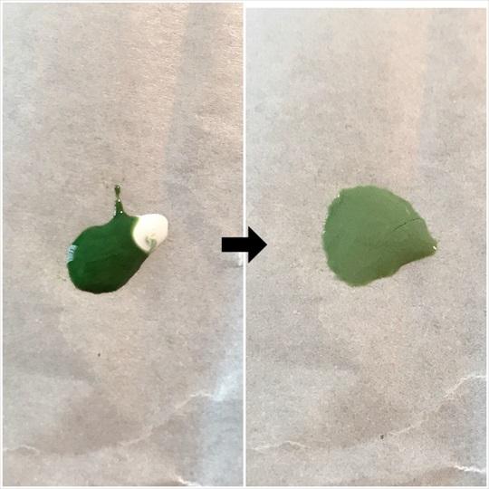 くすみグリーン 作り方
