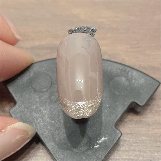 ガラスフレンチネイル やり方